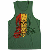 Graffix Distressed Rasta Logo Green Unisex Tank