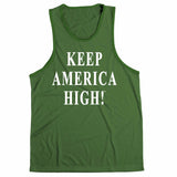 Keep America High Green Tank Top