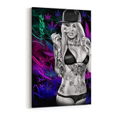 Purple Haze Canvas Art by Daveed Benito