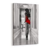 The Red Dress Canvas Art by Daveed Benito