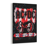 AC/DC We Salute You BOLD by Stephen Fishwick Canvas Art