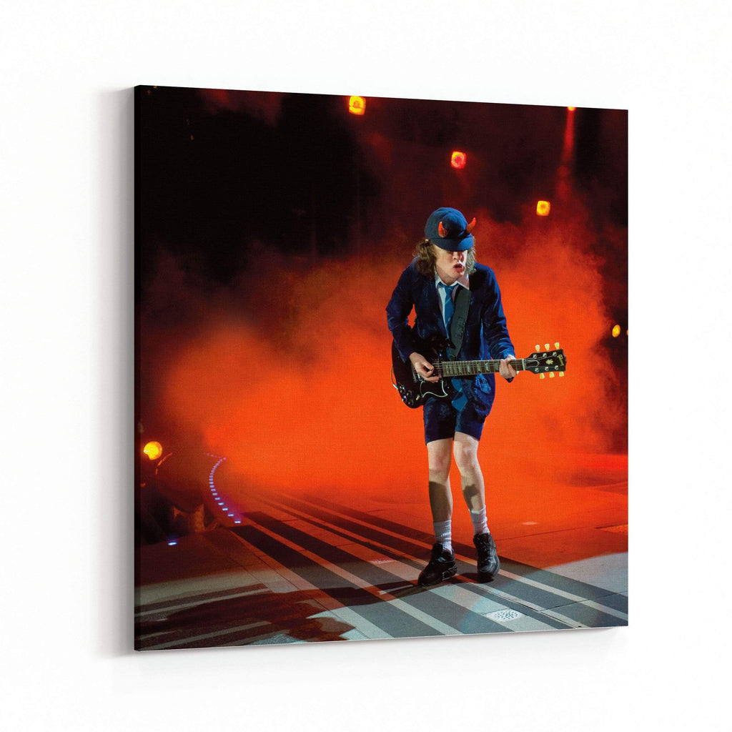 AC/DC Angus Young Rocks Canvas Art