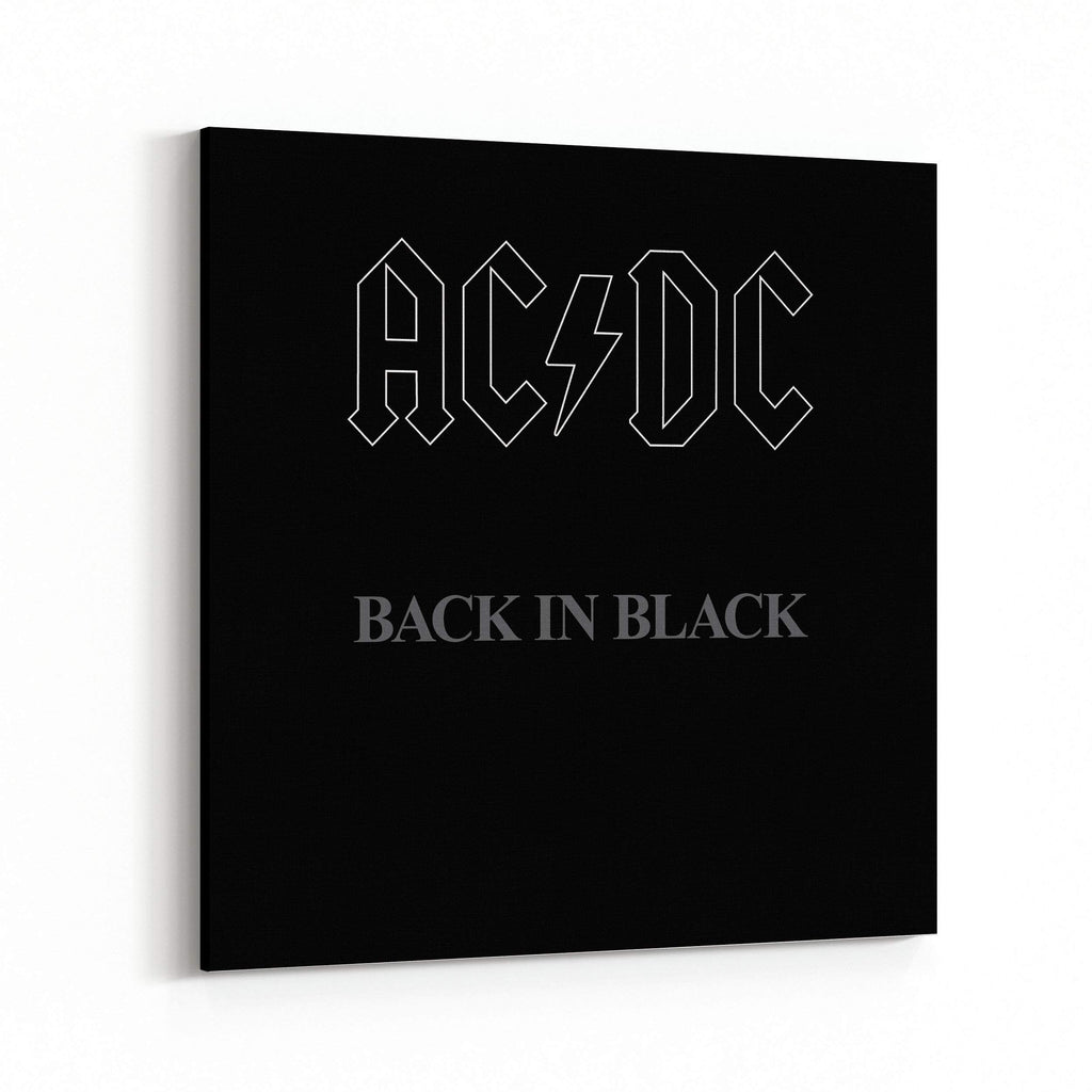 AC/DC Back in Black Cover Canvas Art