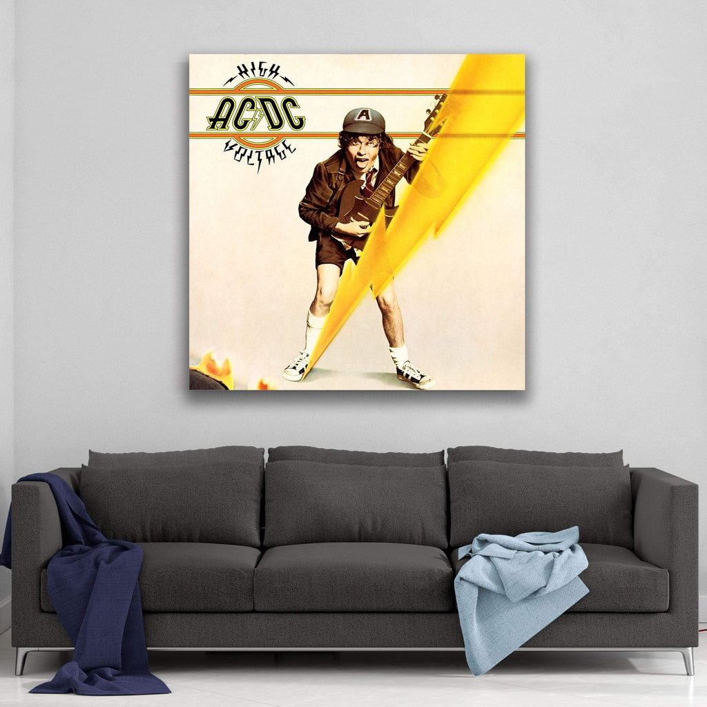 AC/DC High Voltage Canvas Art