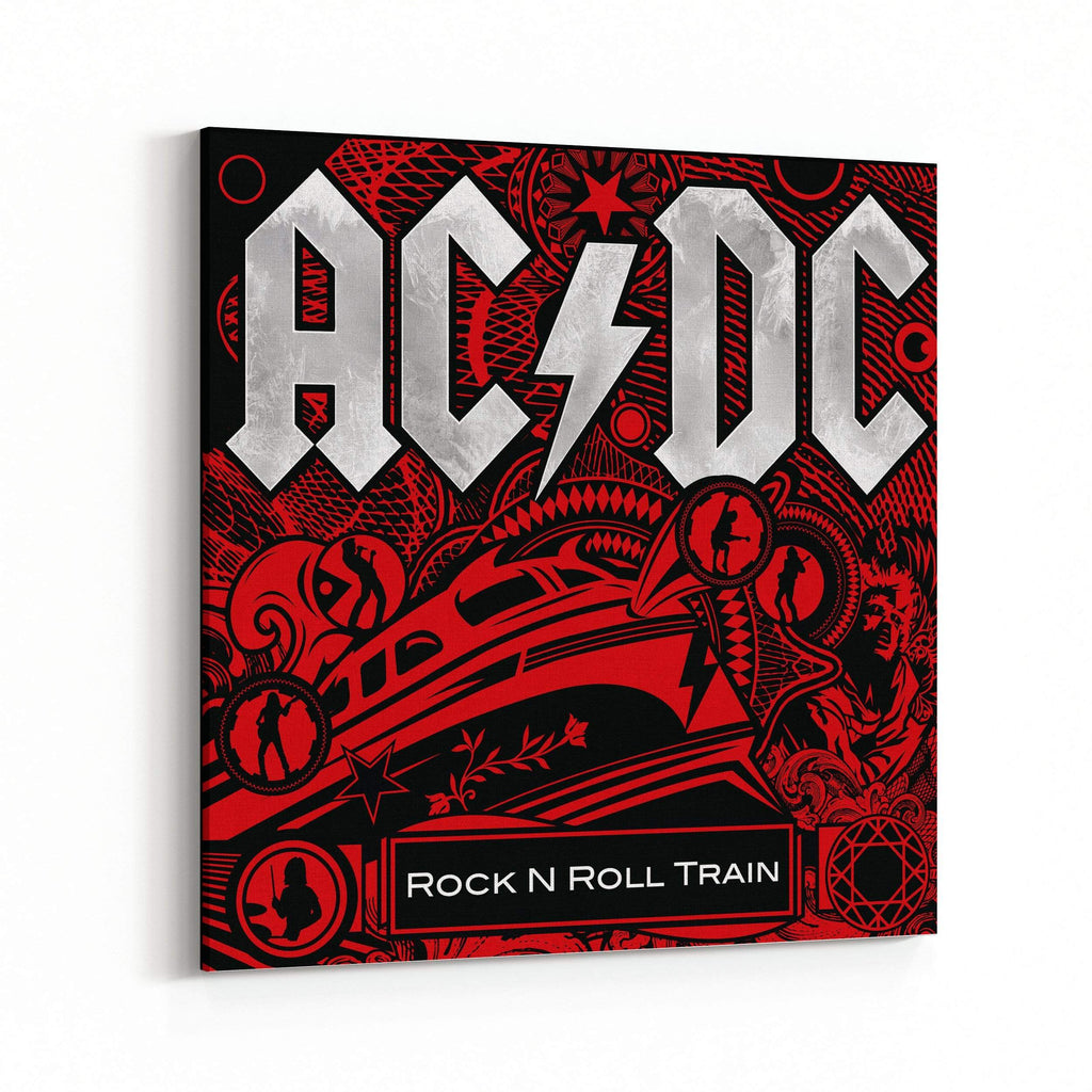 AC/DC Rock N Roll Train Cover Canvas Art