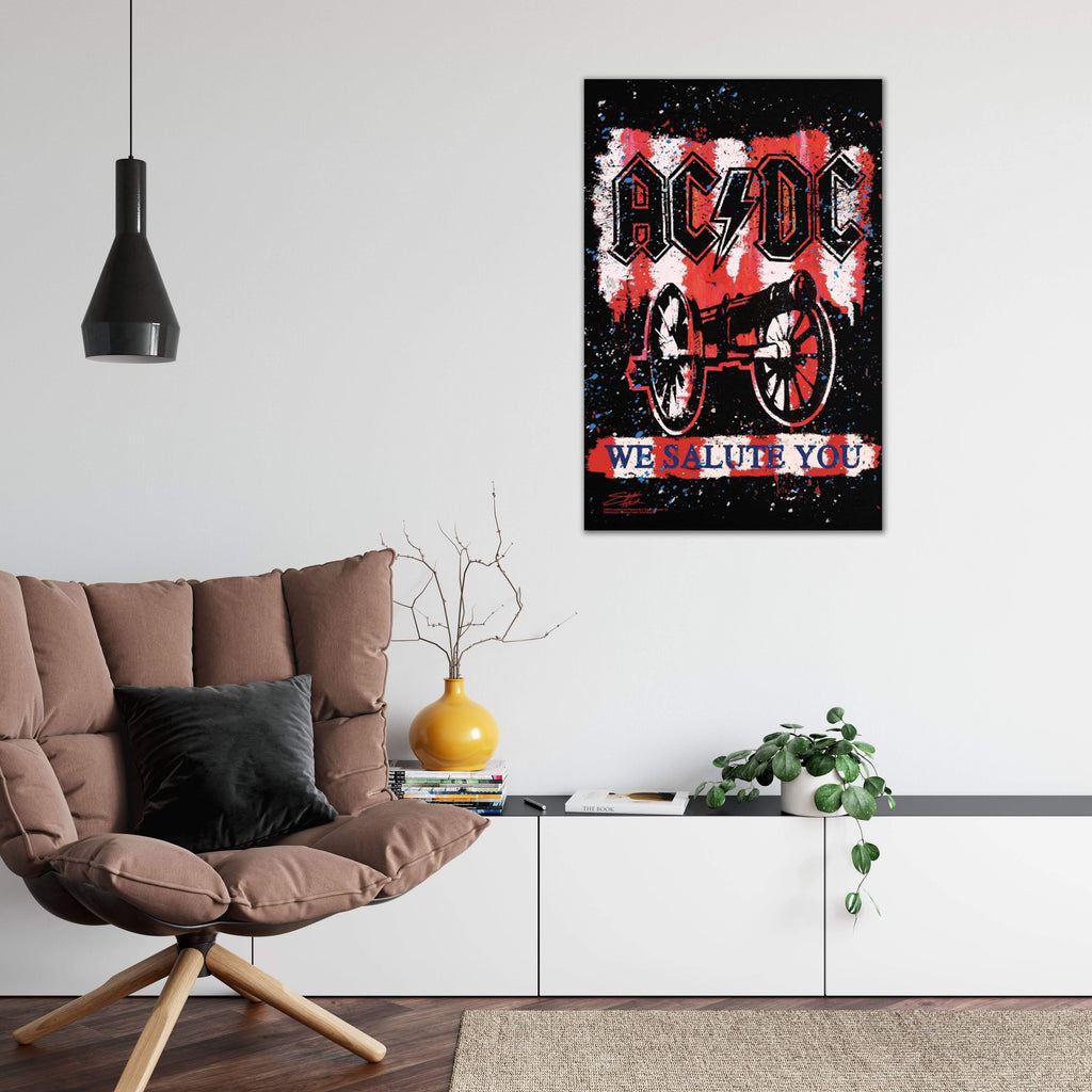 Get Down Art Canvas AC/DC We Salute You BOLD by Stephen Fishwick Canvas Art