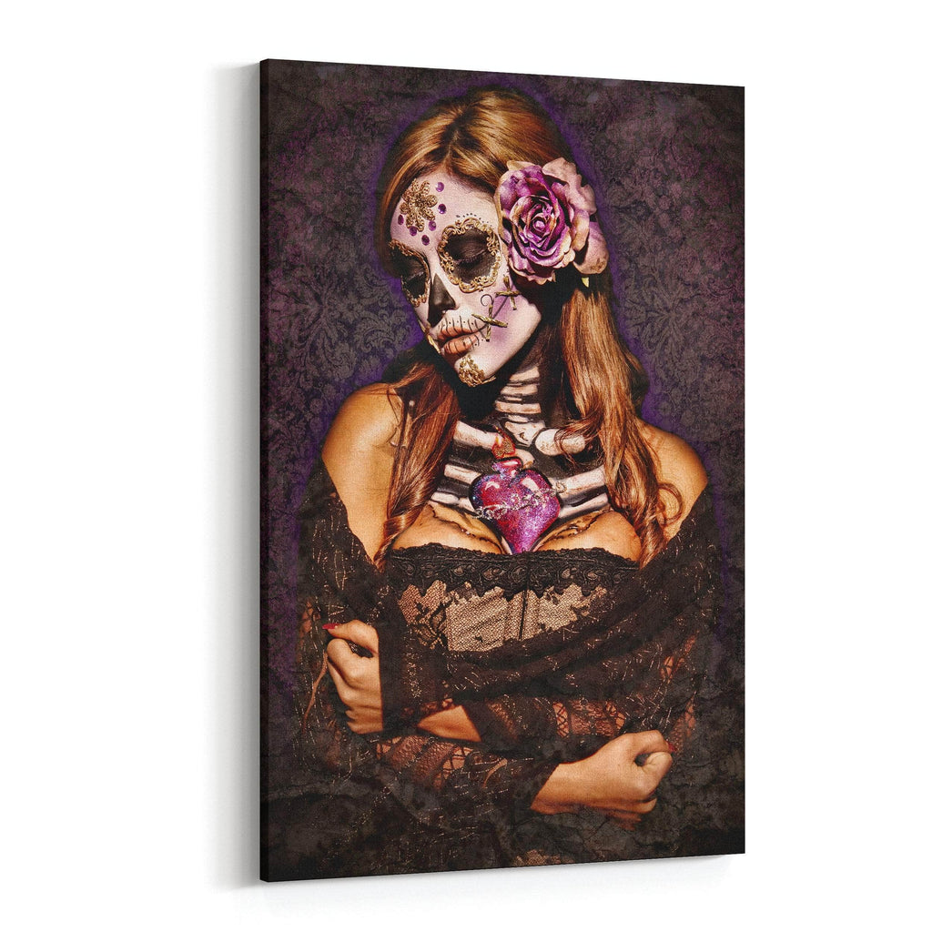 Day of the Dead Lace By Daveed Benito Canvas Art