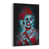 Day of the Dead Mysti Paint By Daveed Benito Canvas Art