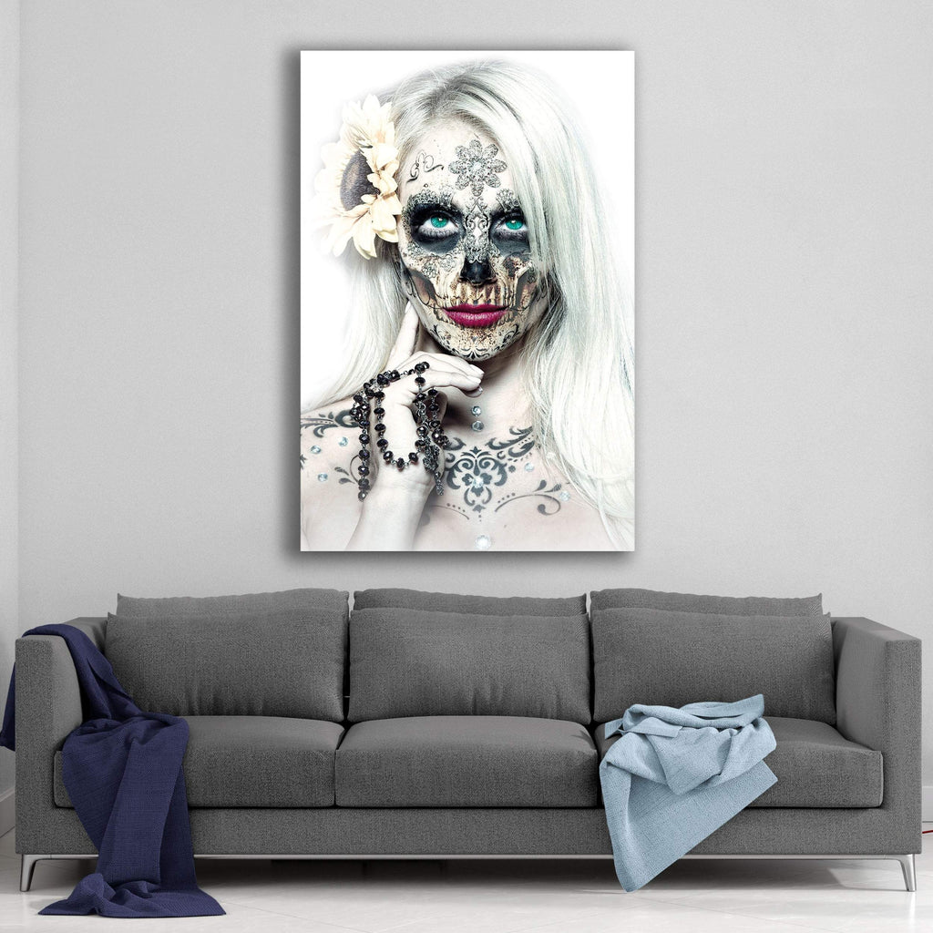 Day of the Dead Winter Death By Daveed Benito Canvas Art
