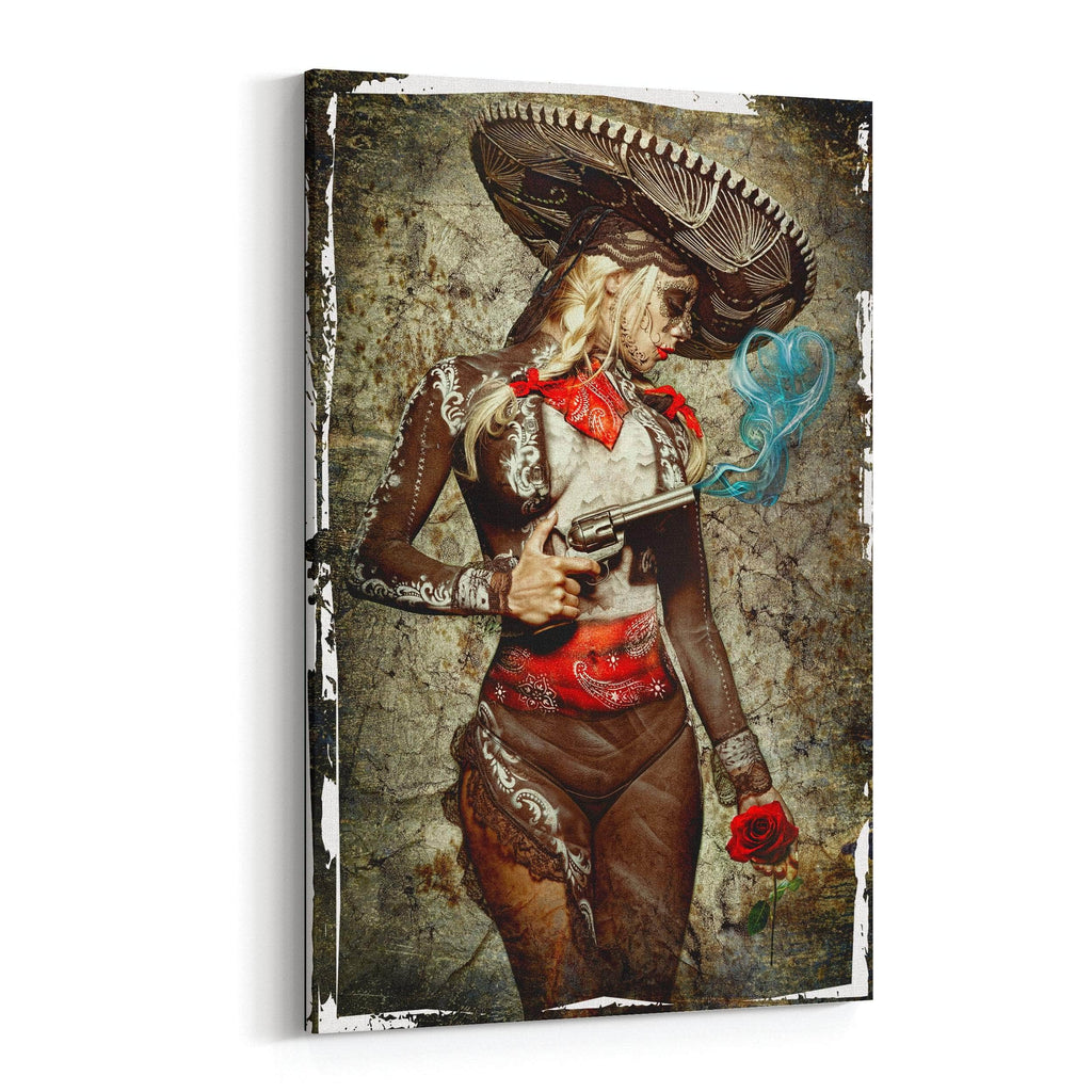 El Mariachi Muerto Amore  Canvas Print  By Daveed Benito Canvas Art