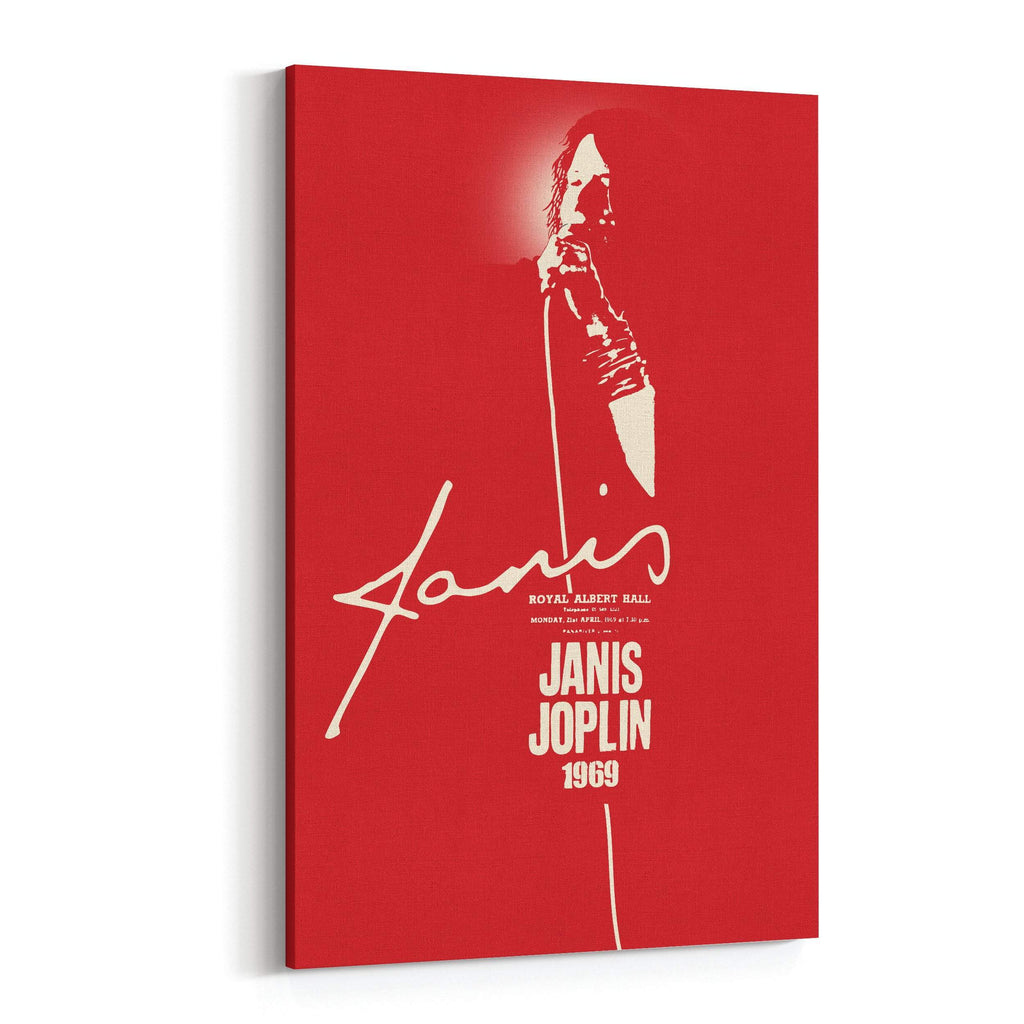 Janis Joplin 1969 Signature Canvas Art