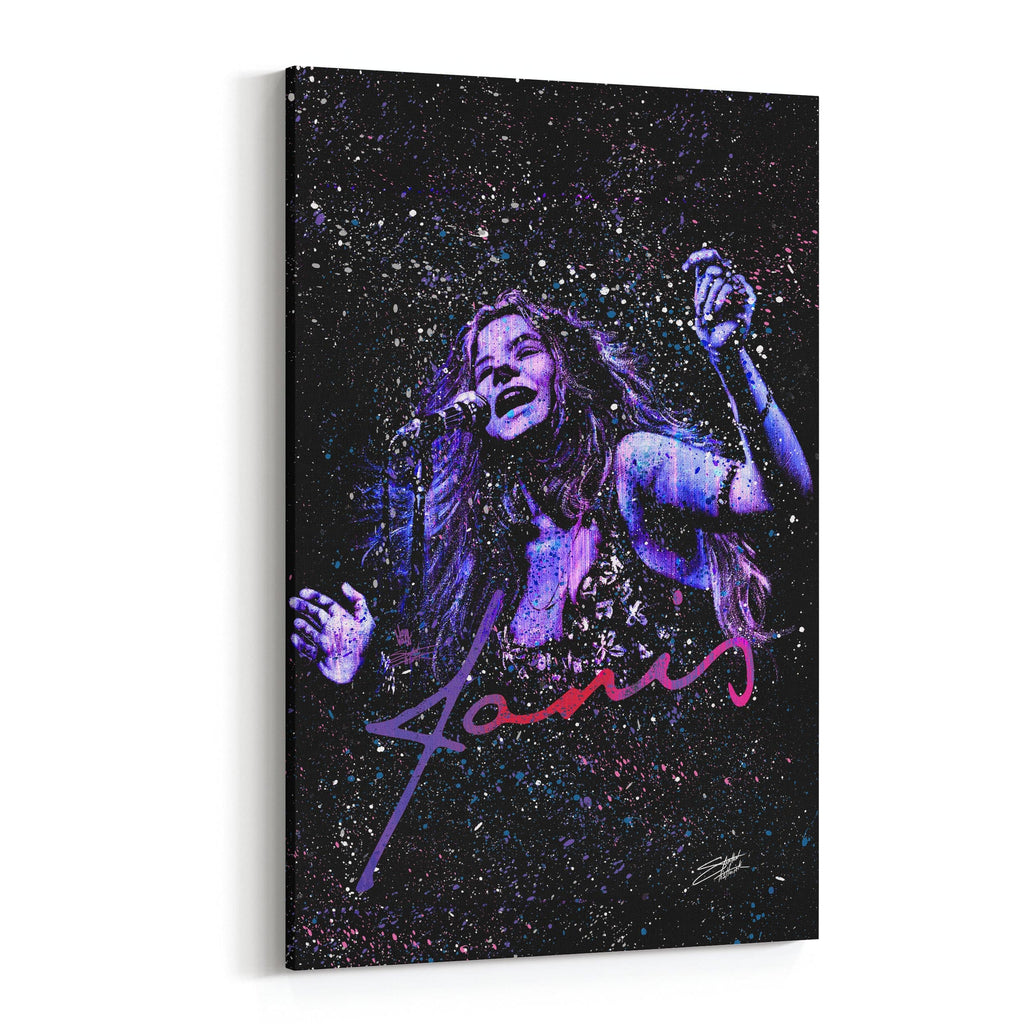 Janis Joplin Kozmic Blues by Stephen Fishwick Canvas Art