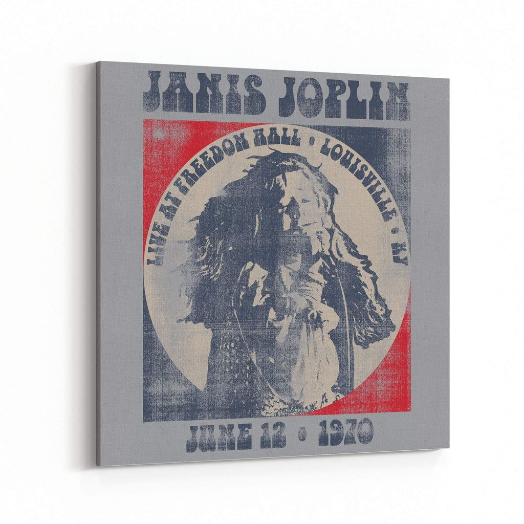 Janis Joplin Live at Freedom Hall 1970 Canvas Art