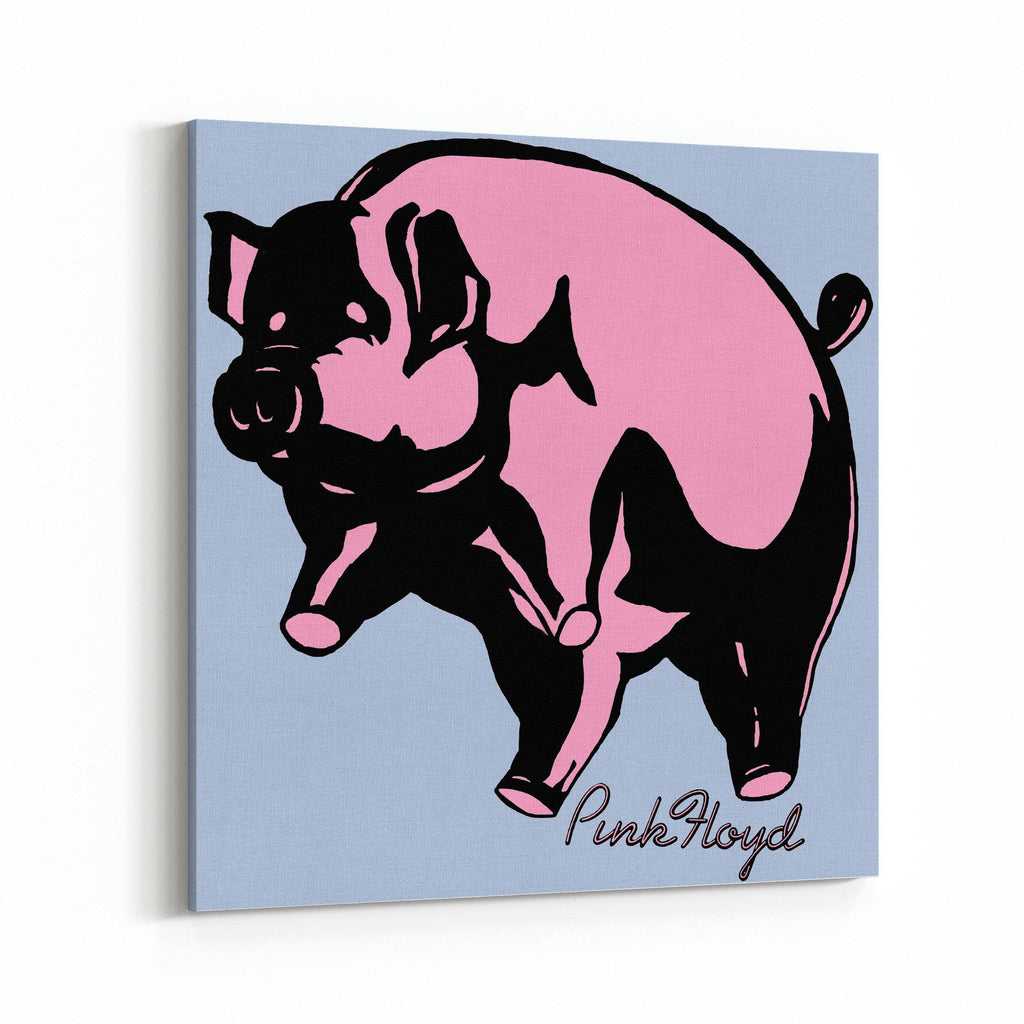 Pink Floyd Pink Piggy Canvas Art