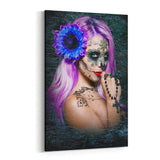Violet  Canvas  By Daveed Benito Canvas Art
