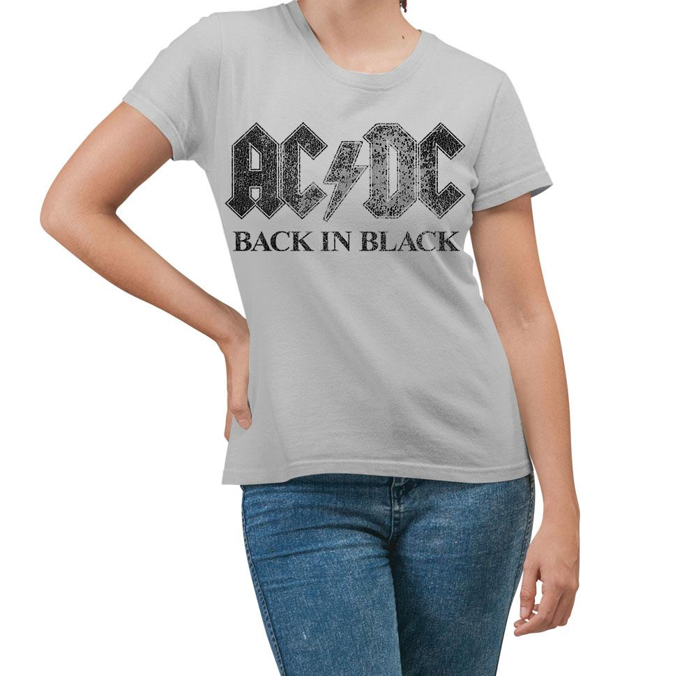AC/DC Back In Black Silver T-Shirt