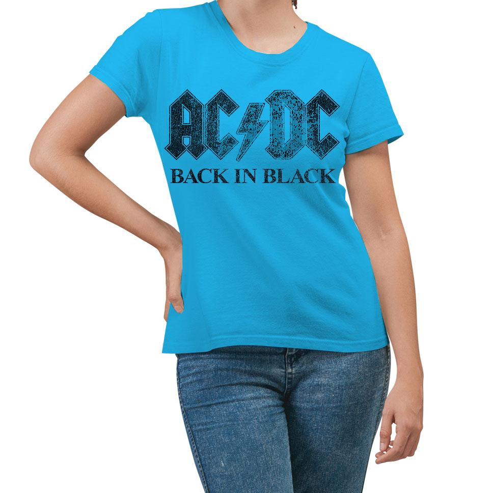AC/DC Back In Black Turquoise T-Shirt