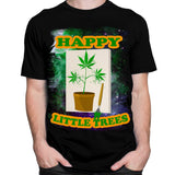 Get Down Art T-Shirt Happy Little Trees T-Shirt by Daveed Benito