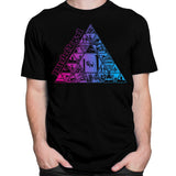 Pink Floyd Pyramid Pink & Blue Black T-Shirt