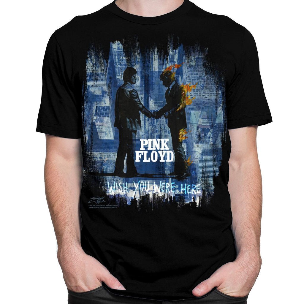 Pink Floyd Wish You Were Here T-Shirt by Stephen Fishwick