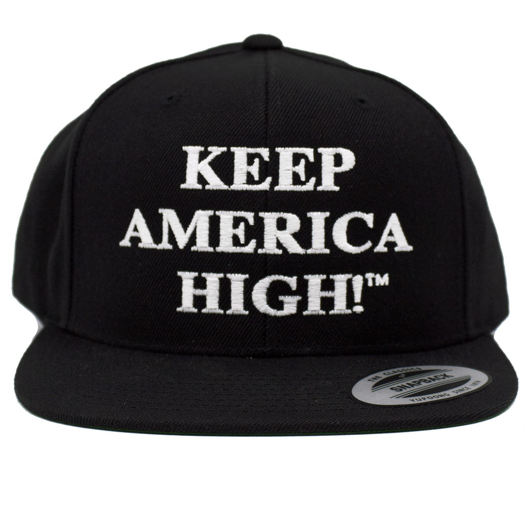 Keep America High™ Apparel Keep America High Hat - Black 6 Panel