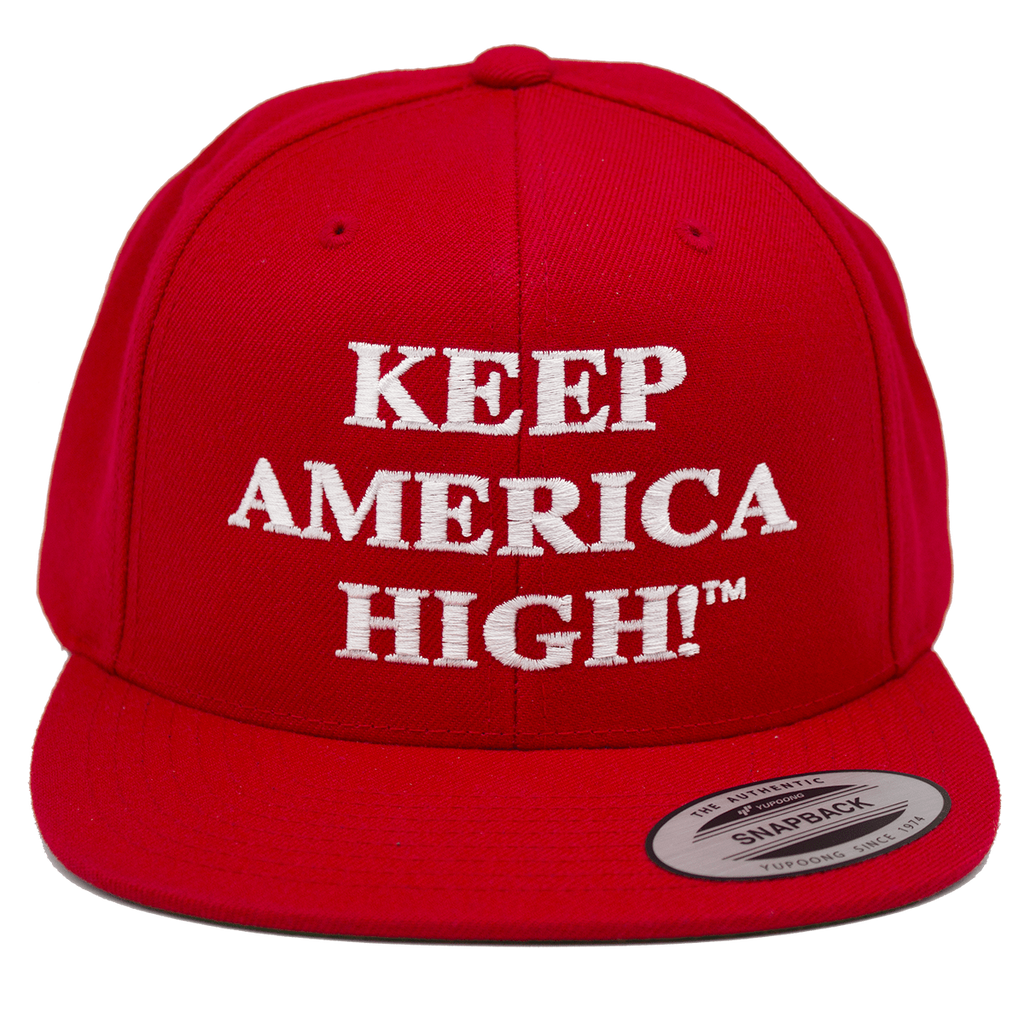 Keep America High™ Apparel Keep America High Hat - Red 6 Panel