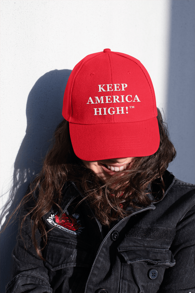 Keep America High 5-Panel Hat for Marijuana Legalization
