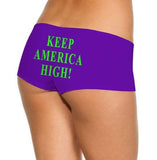 Keep America High™ Booty Shorts Keep America High Purple Booty Shorts