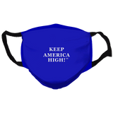 Keep America High Blue  Reusable and Washable Anti-Germ and Pollution Face Mask Cover