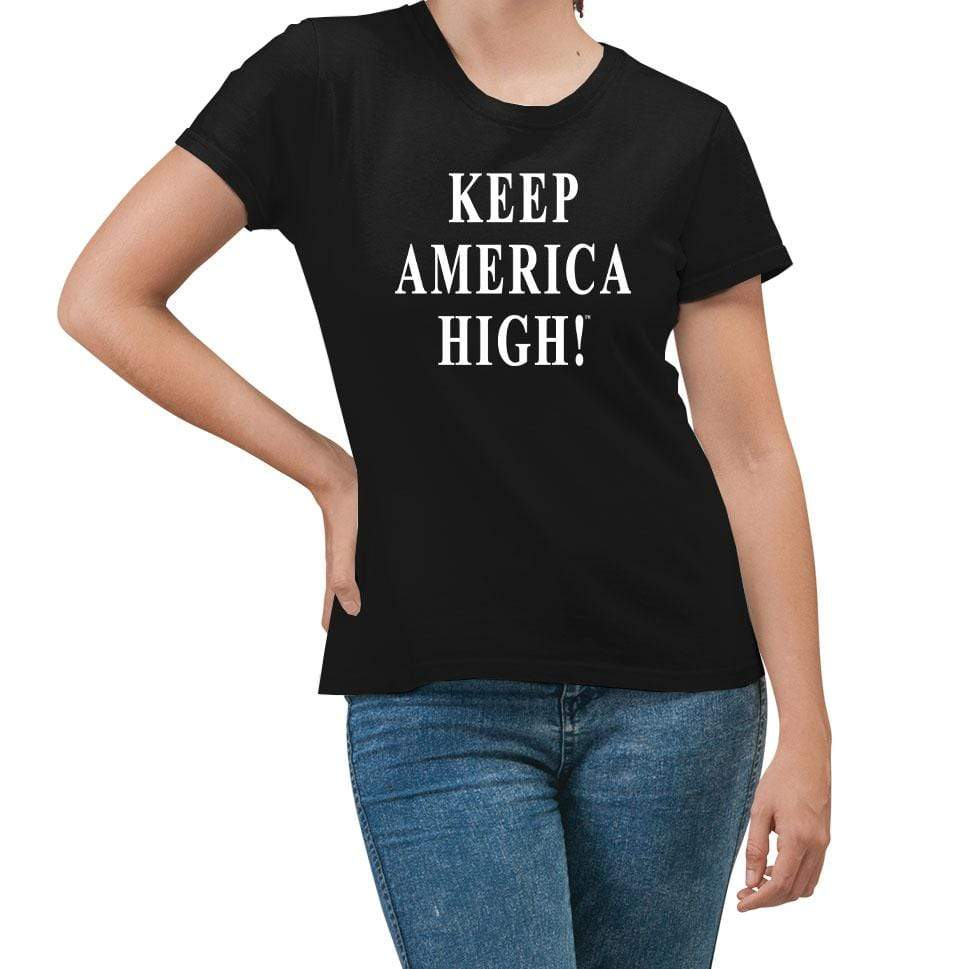 Keep America High Black T-Shirt