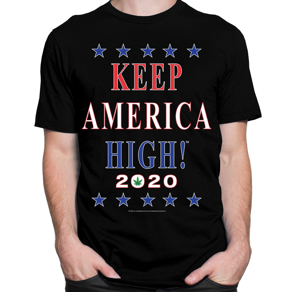 Keep America High™ T-Shirt Official 2020 Keep America High Black T-Shirt