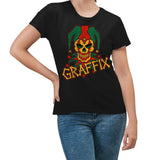 Keep America High™ T-Shirt Rasta Graffix Logo T-Shirt Black