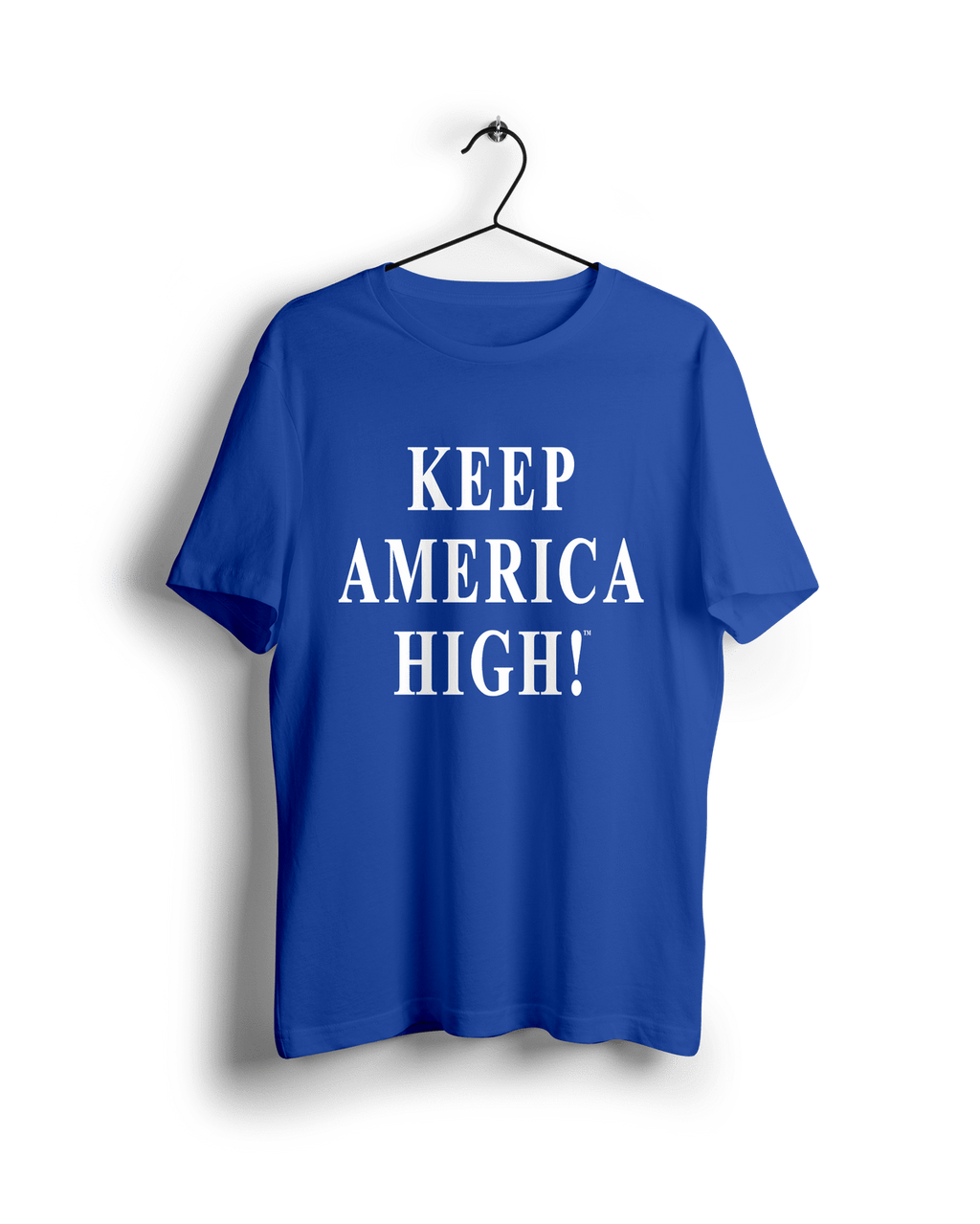 "Keep America High™ Unisex ""Keep America High"" White Text On Blue"