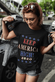 Official 2020 Keep America High Black T-Shirt