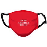 Keep America High  Reusable and Washable Anti-Germ and Pollution Face Mask Cover