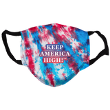 Tie Dye Keep America High  Reusable and Washable Anti-Germ and Pollution Face Mask Cover