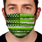 Pot Leaf Flag  Reusable and Washable Anti-Germ and Pollution Face Mask Cover