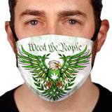 Weed the People  Reusable and Washable Anti-Germ and Pollution Face Mask Cover - Light