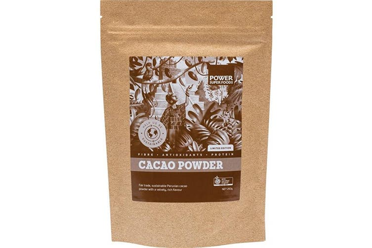 Power Super Foods Raw Organic Cacao Powder 250g