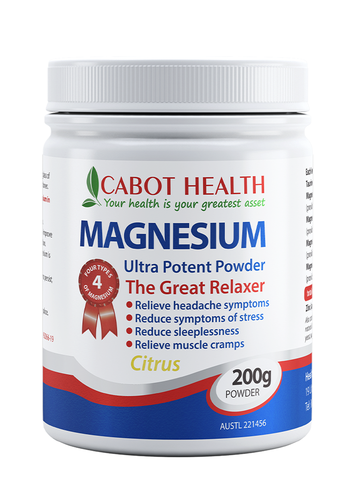 Cabot Health Magnesium Ultra Potent Powder Citrus 200g