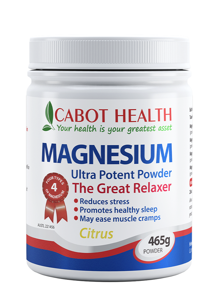 Cabot Health Magnesium Ultra Potent Powder Citrus 465g