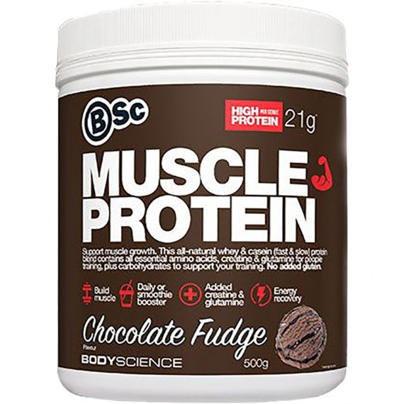 Body Science Build Muscle Protein Chocolate Fudge 500g