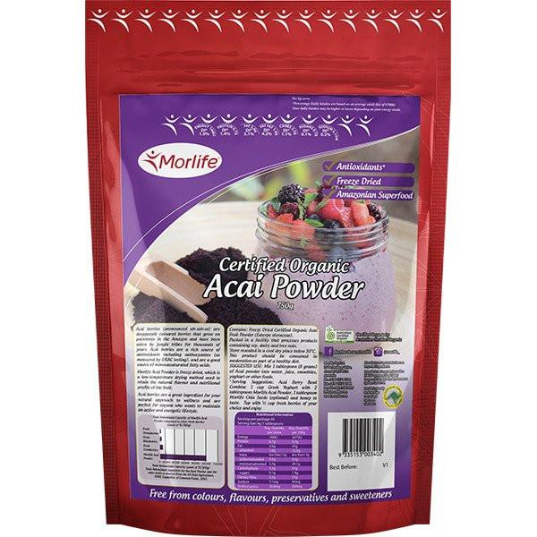 MORLIFE - ACAI POWDER CERTIFIED ORGANIC 80G