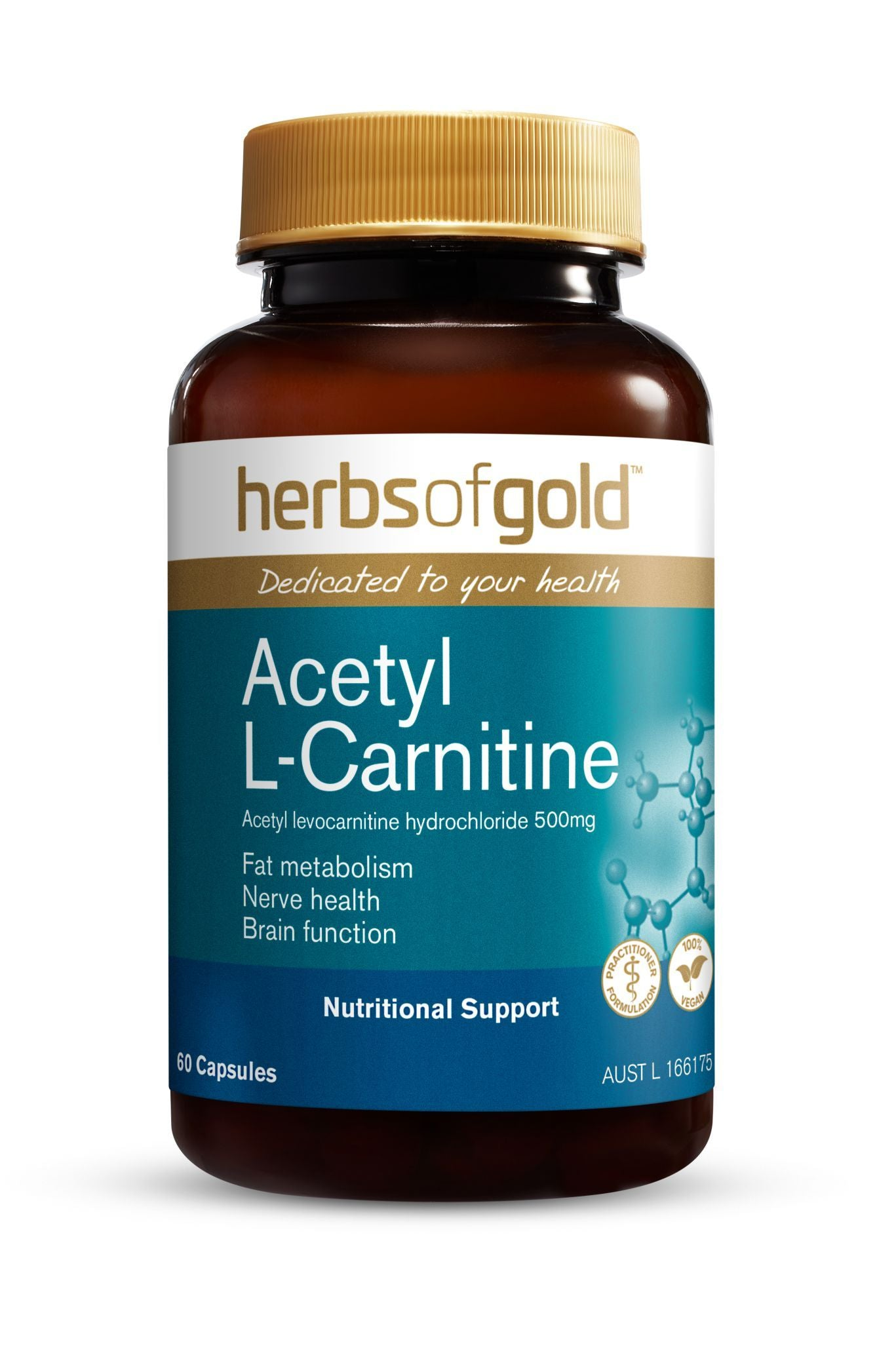 HERBS OF GOLD ACETYL L-CARNITINE 60VC