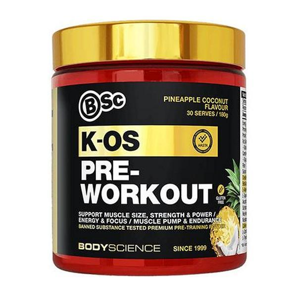 Body Science KOS Pre-Workout Pineapple Coconut 180g