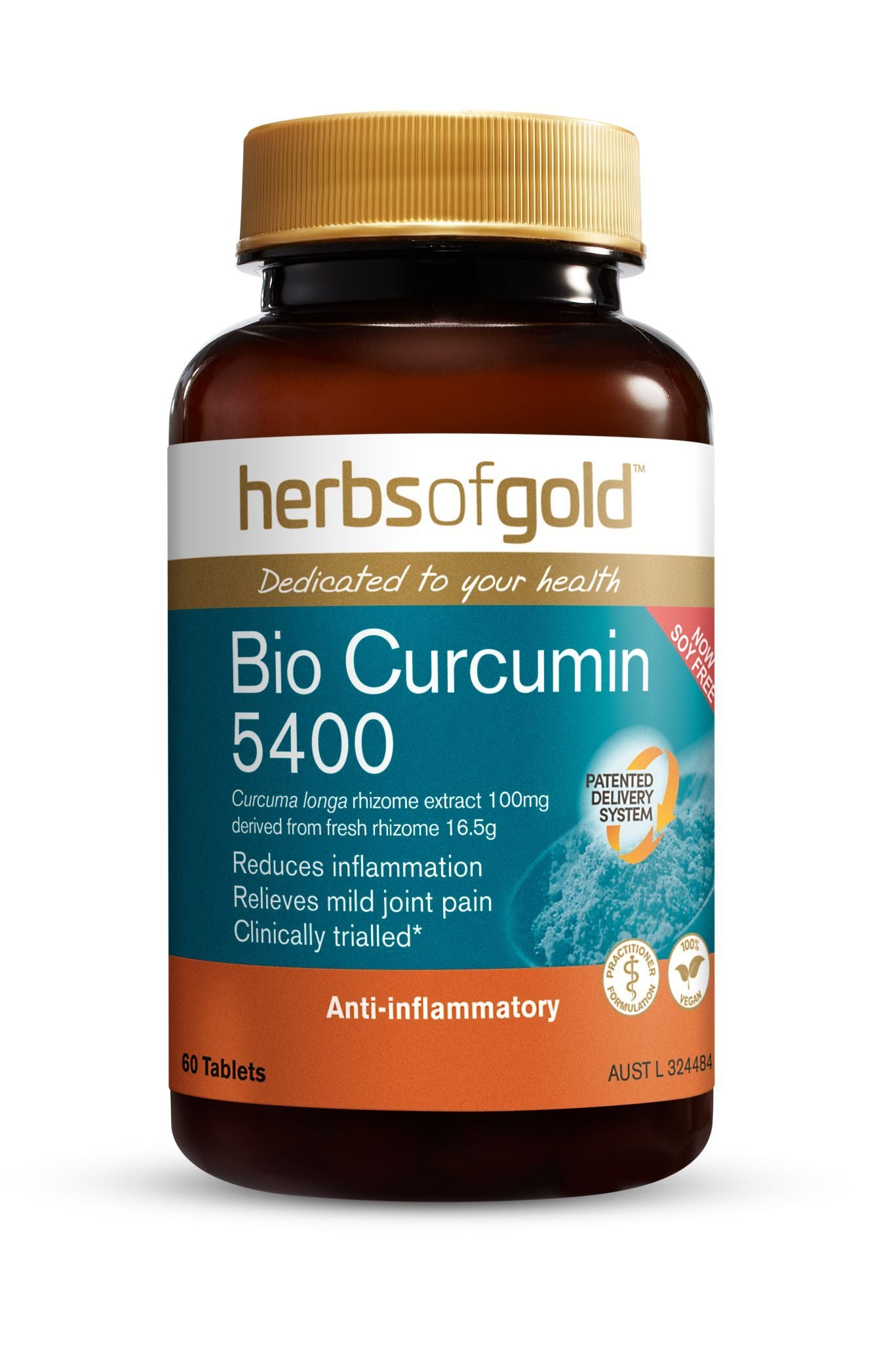 HERBS OF GOLD BIO CURCUMIN 5400 60T