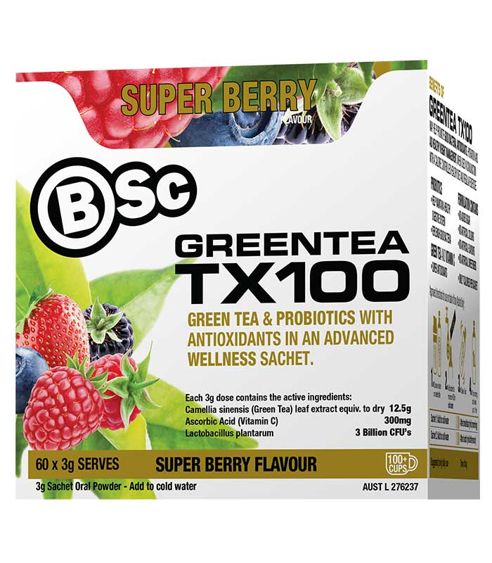 Body Science Green Tea TX100 Super Berry 60 Sachets