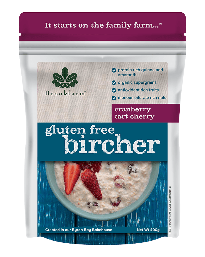 Brookfarm Gluten Free Bircher with Cranberry & Tart Cherry 400g