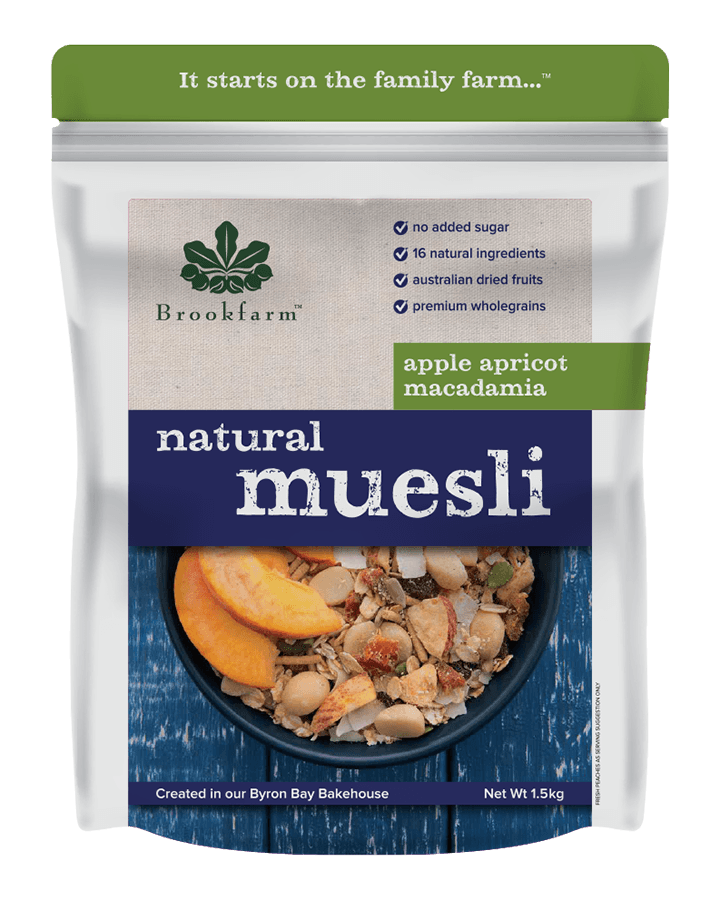Brookfarm Natural Macadamia Muesli with Apple & Apricot 1.5kg