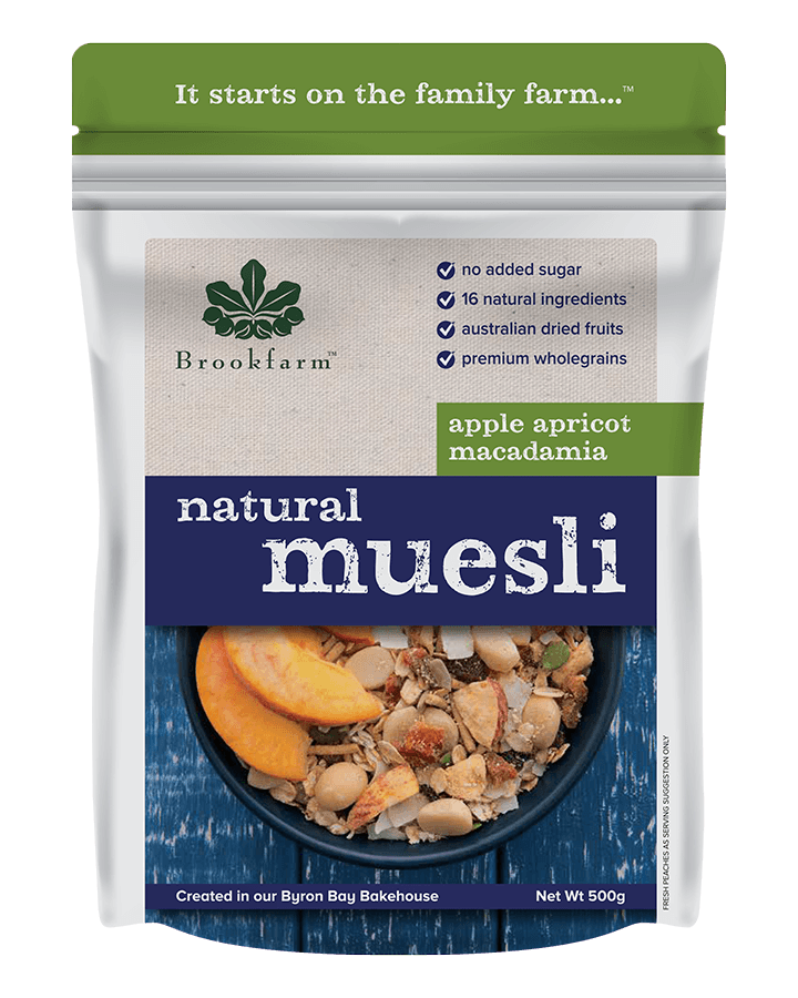 Brookfarm Natural Macadamia Muesli with Apple & Apricot 500g
